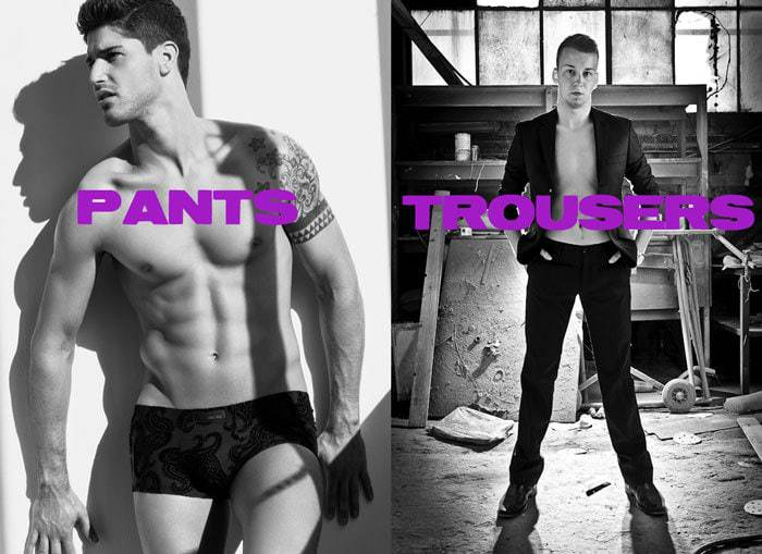 Pants versus Trousers
