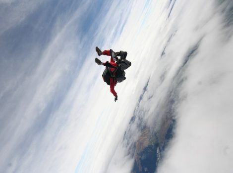 skydiving - one giant leap
