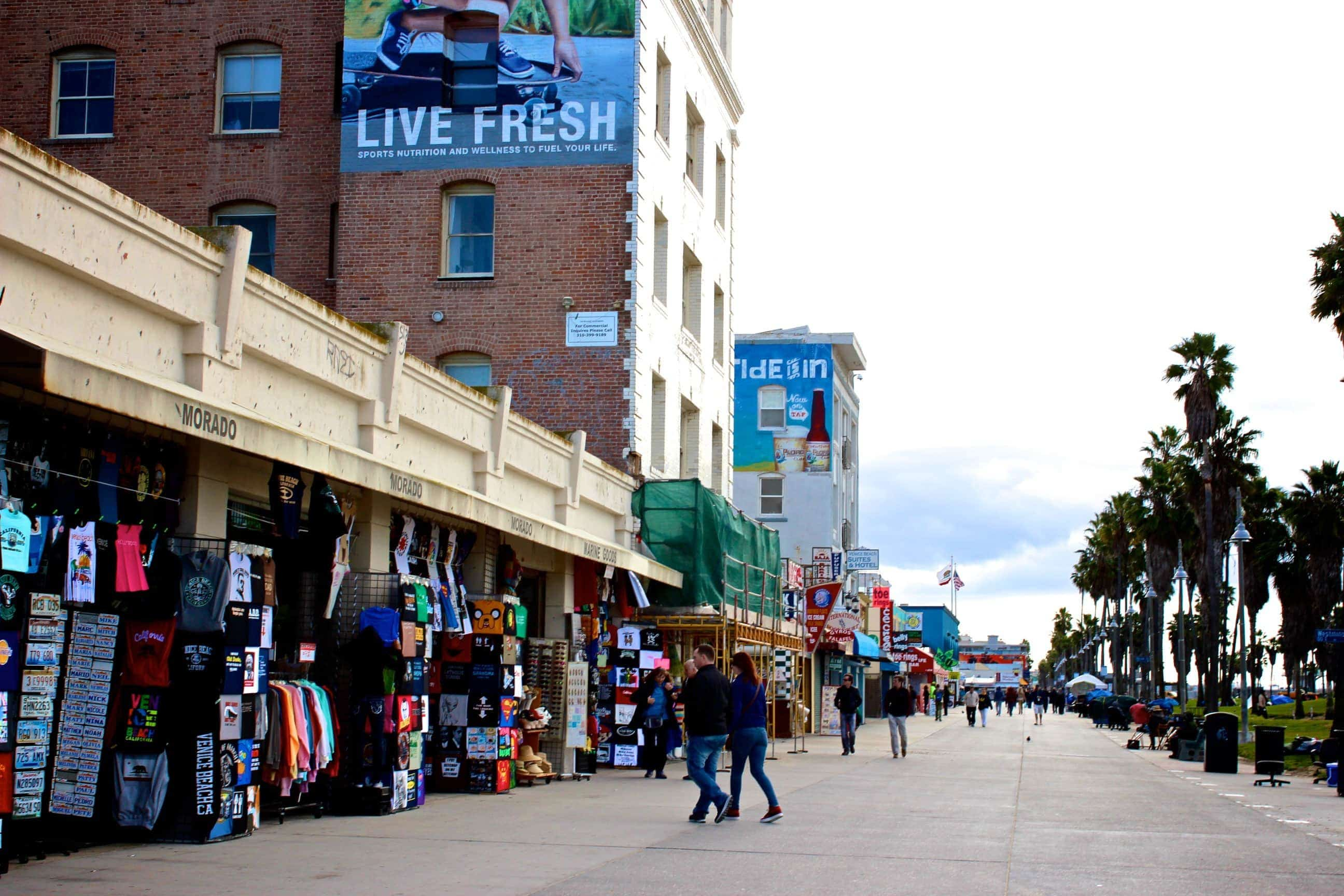 Venice Beach California souvenir shopping