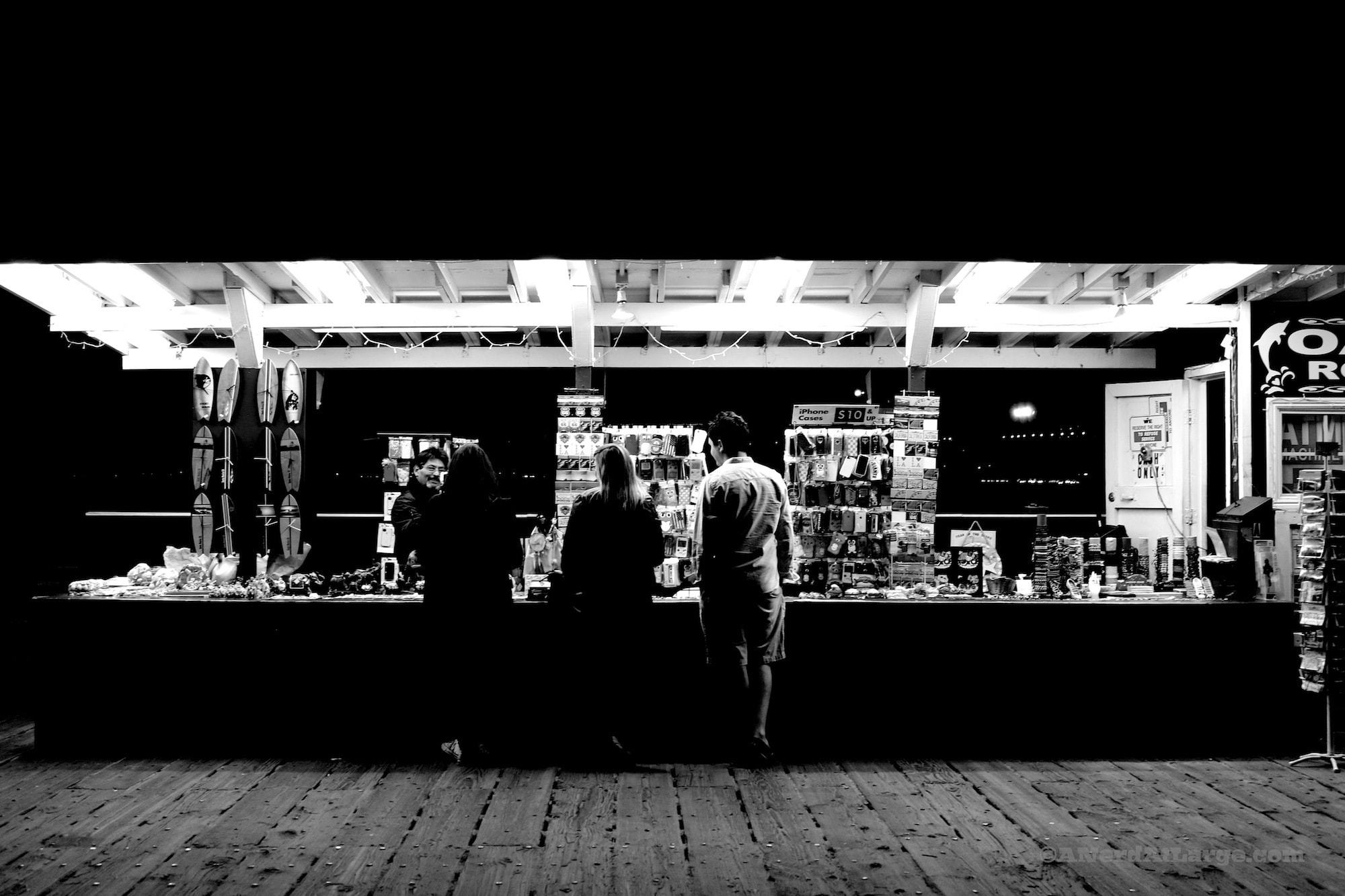 foto friday santa monica pier in black and white a nerd at large