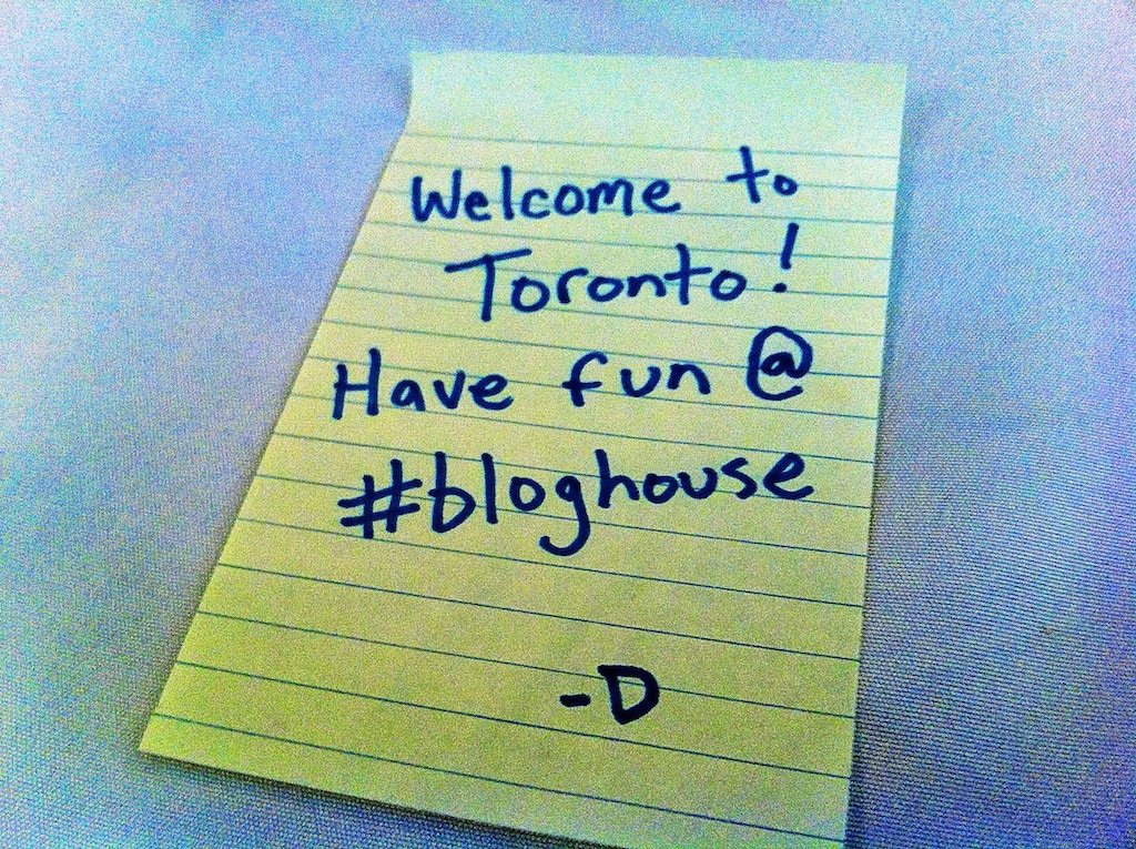 BlogHouse welcome