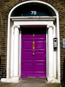 Purple Georgian door Dublin