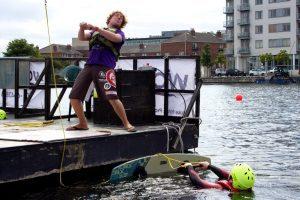 Wakeboarding Dublin Peter pontoon