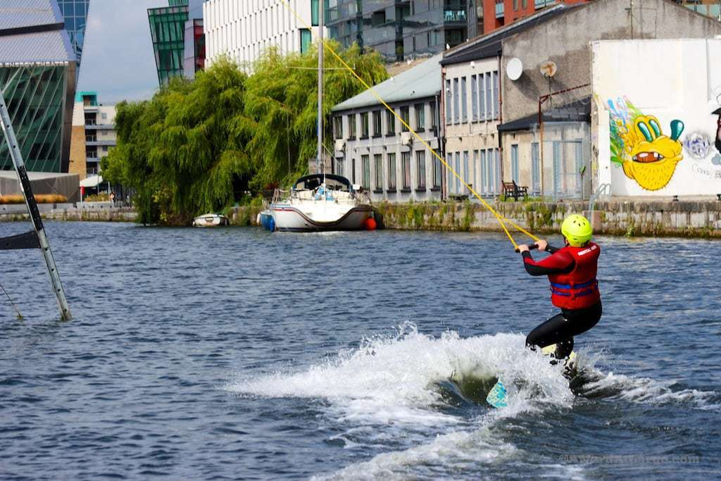 Wakeboarding Dublin canal dock Nerd at Large