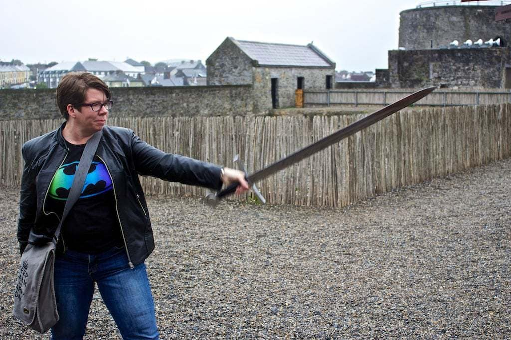 A Nerd at Large Sword St Johns Castle Limerick