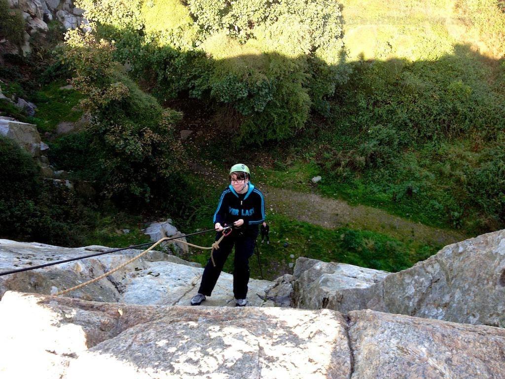 Rock climbing Dalkey quarry Extreme Ireland