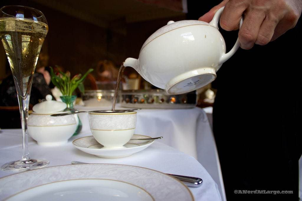 Shelbourne Hotel Afternoon Tea pouring