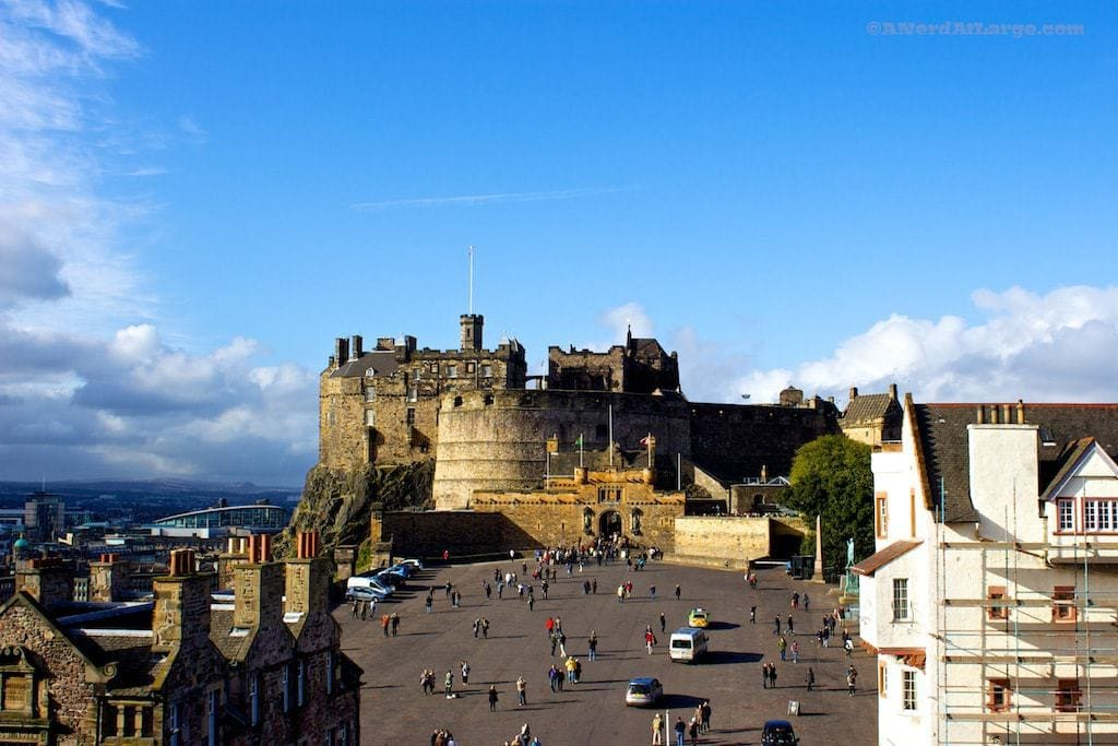 View of Edinburgh Castle from Camera Obscura