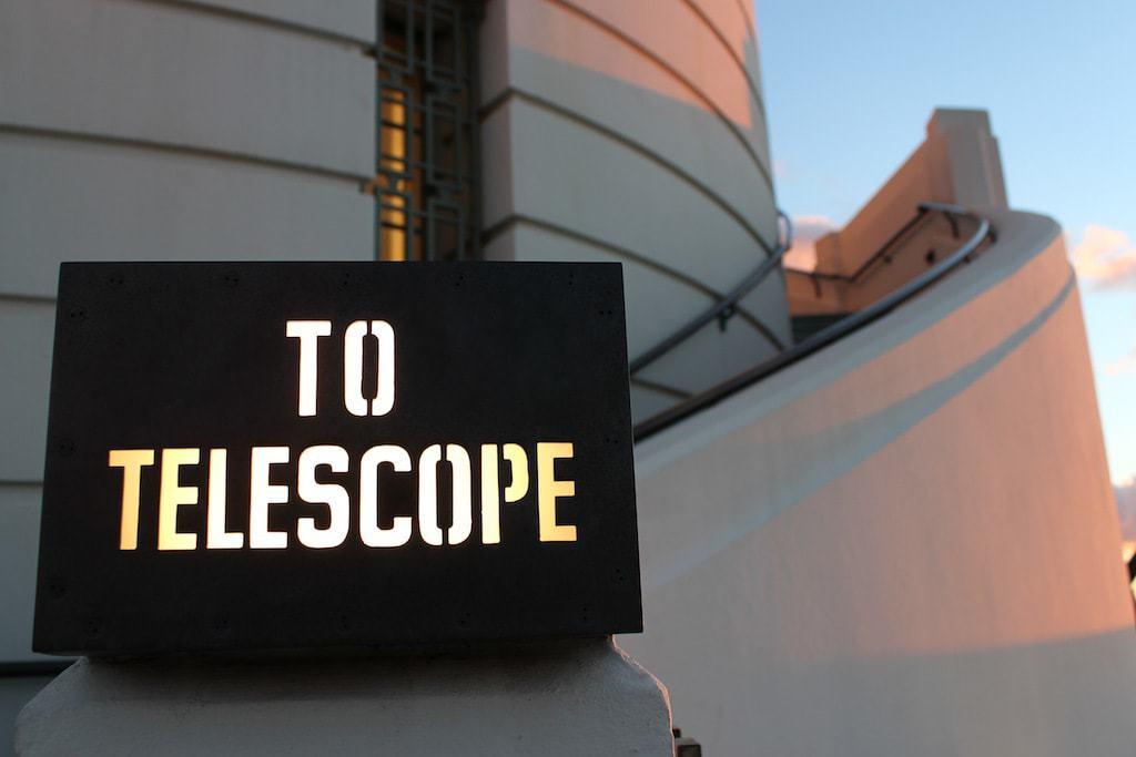 Priffith Park Observatory sunset telescope
