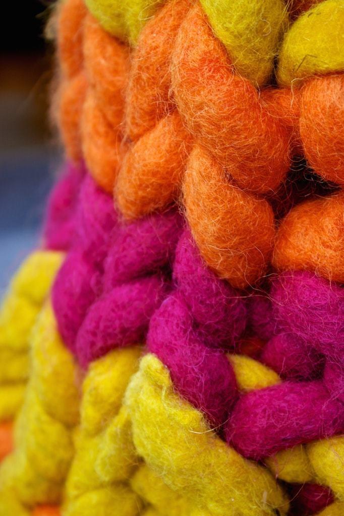 Yarnbombing closeup Kildare Village
