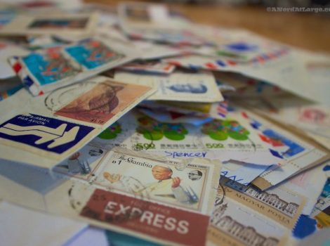 Postage stamps from penpals