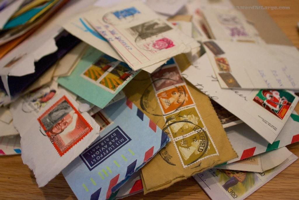 stamps from old letters