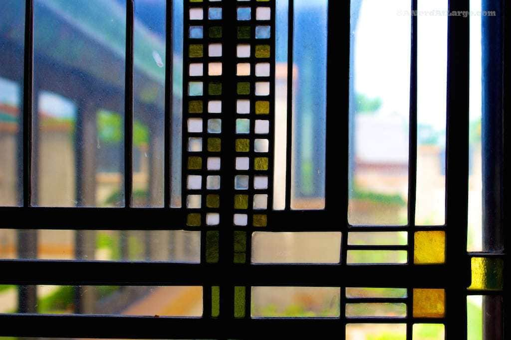 Frank Lloyd Wright glass Dana Thomas House Springfield Illinois