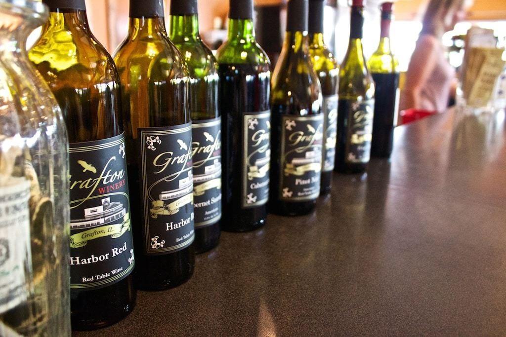 Grafton winery bottle Illinois