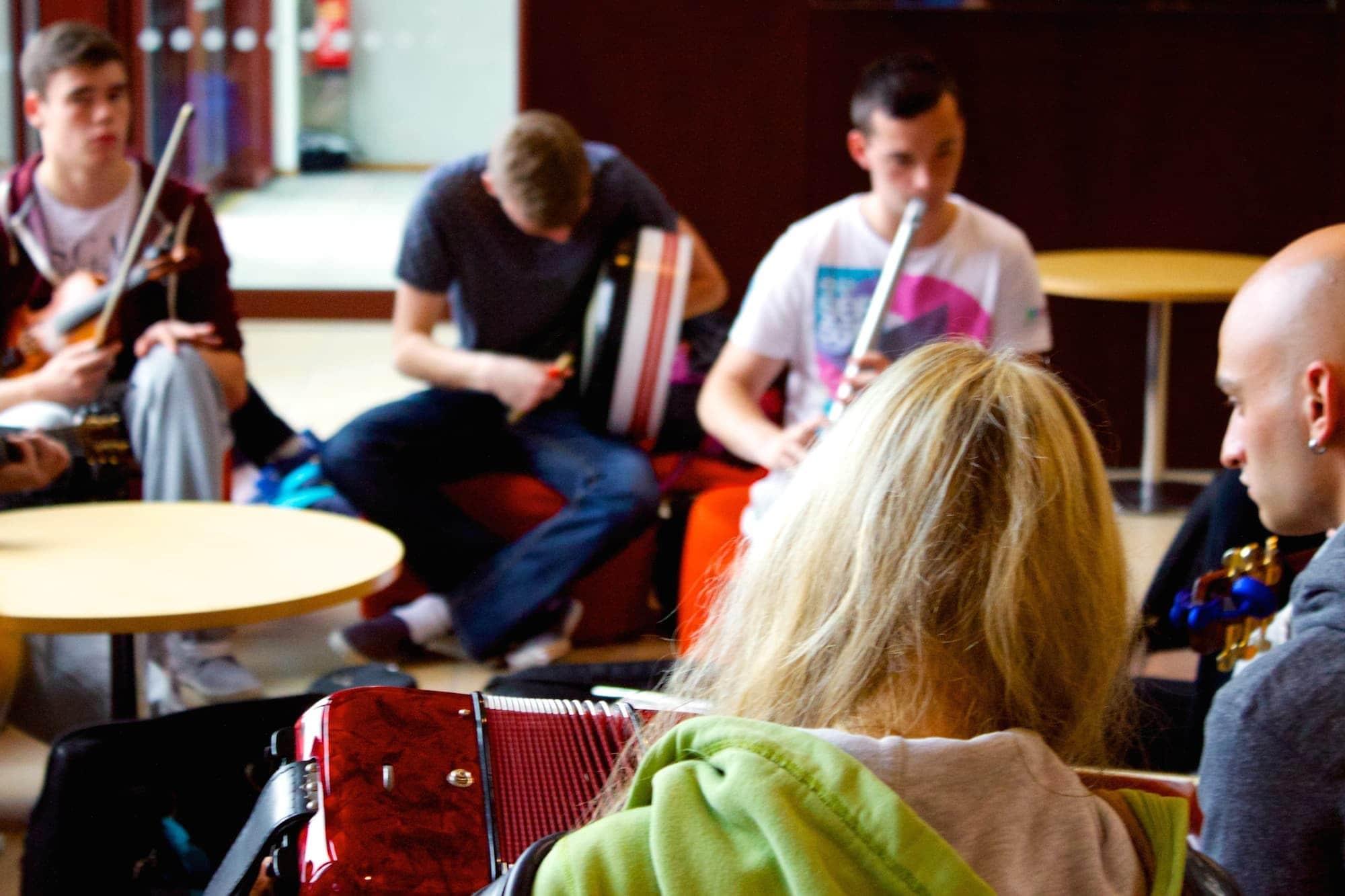 Limerick University trad session