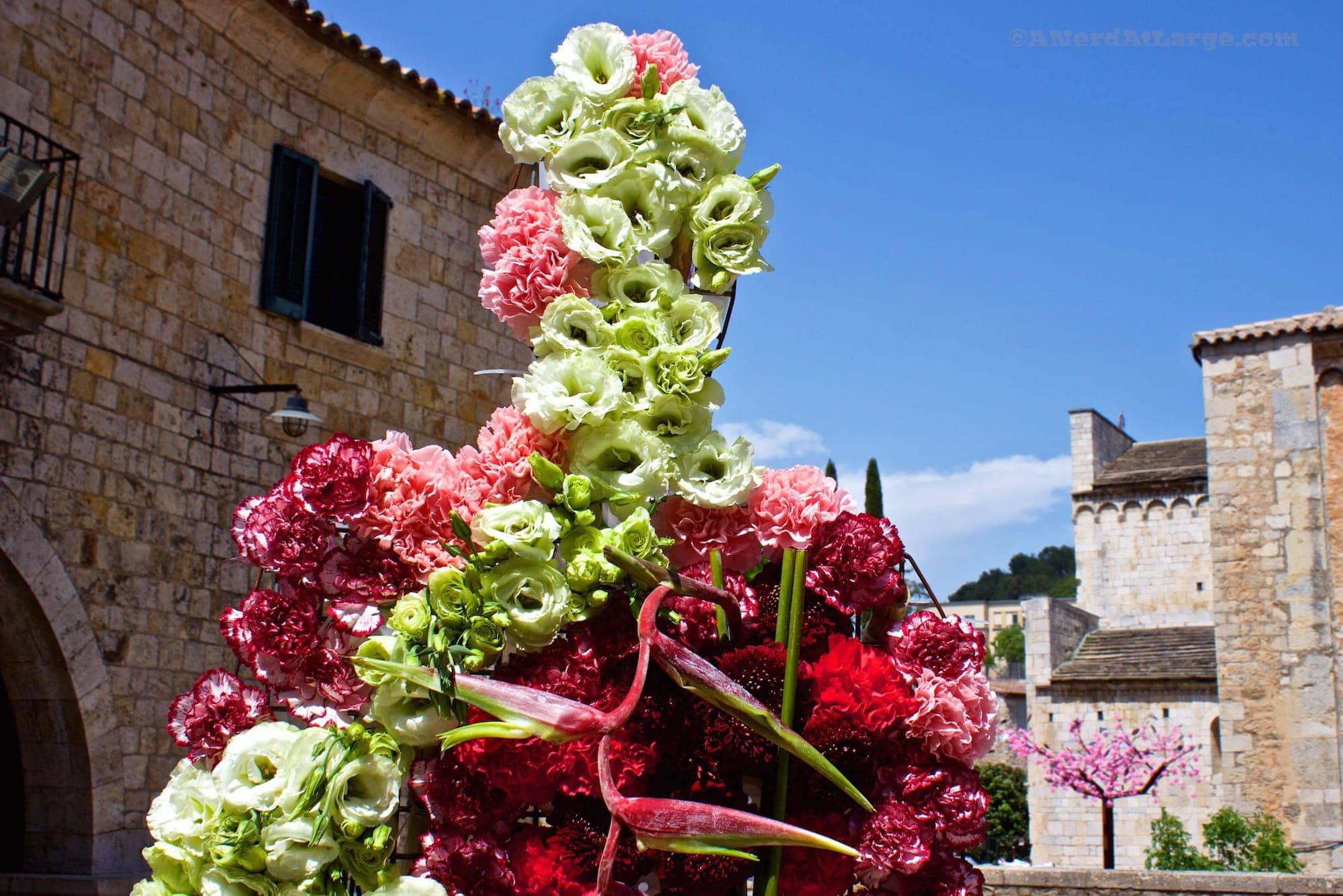 Temps de Flors Girona Spain flower person
