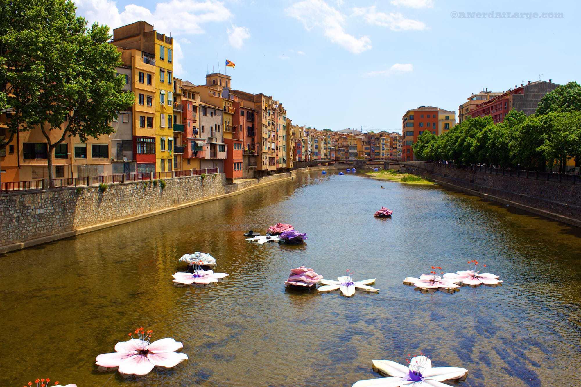 Temps de Flors Girona Spain flowers river