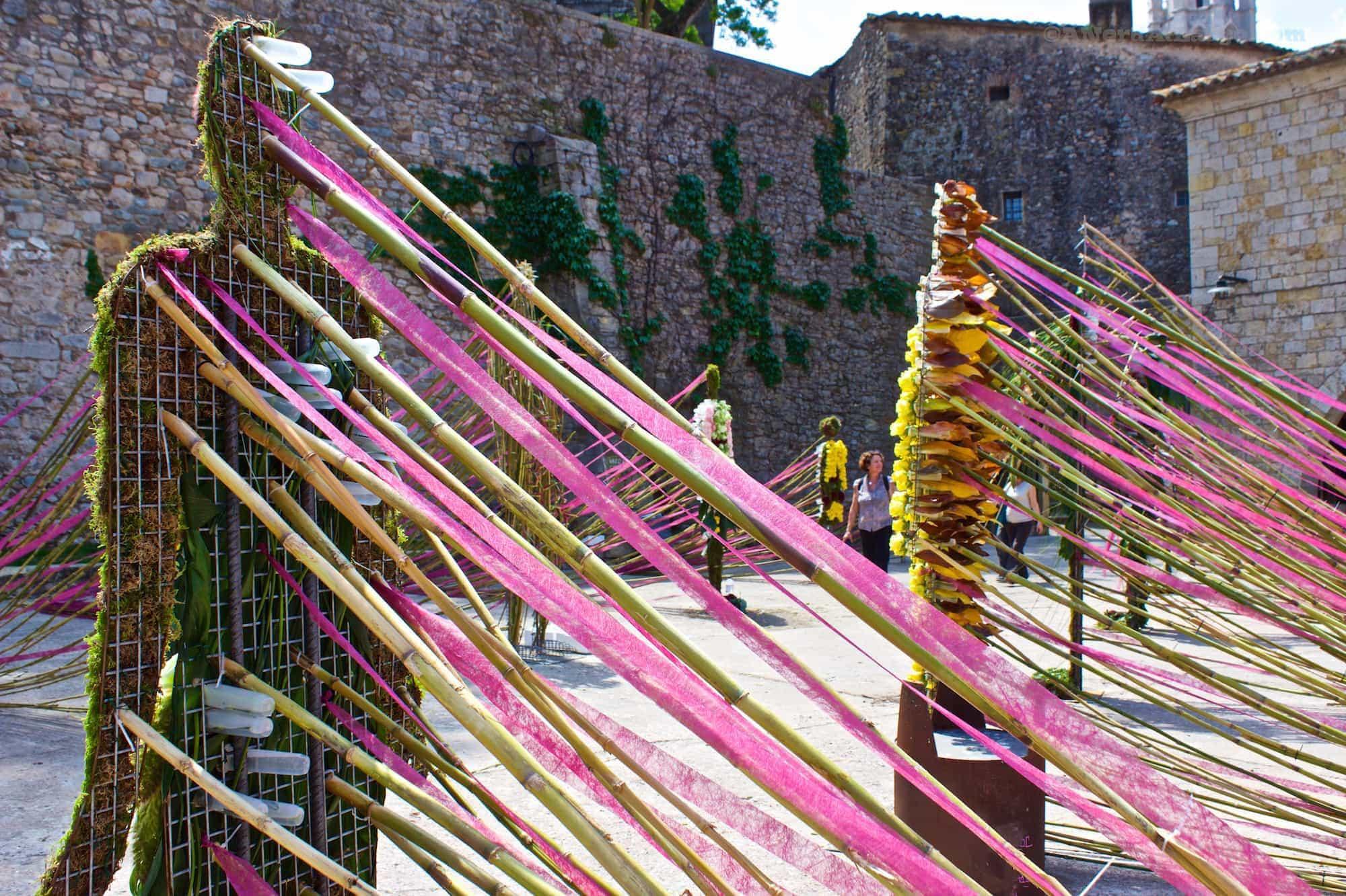 Temps de Flors Girona flowers sculpture