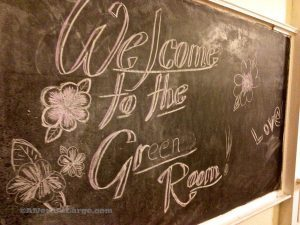 Davie School Inn Green Room Chalkboard